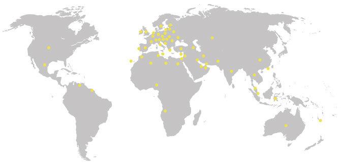 Mapa naszych kontrahentów